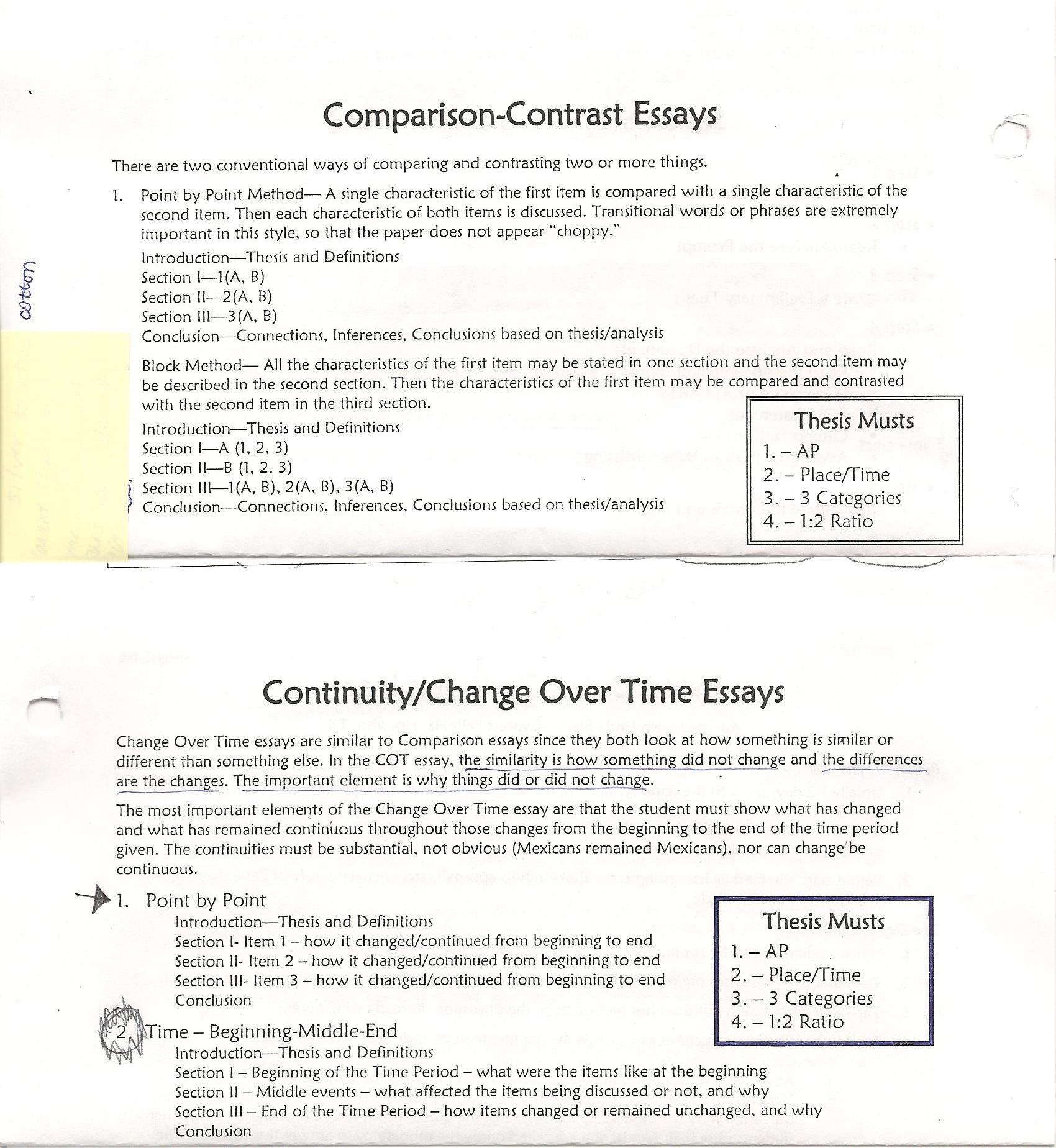 ap world compare and contrast essay prompts
